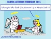 Cartoon: Ascension Day 2015 (small) by cartoonharry tagged holy,thursday,2015,ascensionday,blond,god