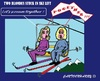 Cartoon: Blond and SkiLift (small) by cartoonharry tagged weather,winter,snow,ski,lift,blond,together,stuck,cartoonharry