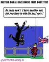 Cartoon: Dope Test (small) by cartoonharry tagged england,royalty,horse,doping