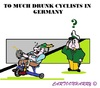 Cartoon: Drunk German Cyclists (small) by cartoonharry tagged germany,drunk,germans,cyclists,alternatives,cartoons,police,cartoonists,cartoonharry,dutch,toonpool