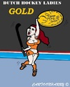 Cartoon: Dutch Hockey Ladies (small) by cartoonharry tagged dutch,hockey,gold,ladies,cartoon,cartoonist,cartoonharry,toonpool