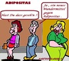 Cartoon: Eine Beobachtung (small) by cartoonharry tagged adipositas