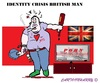 Cartoon: ID Crisis (small) by cartoonharry tagged id,crisis,british,men,man,england,london,drugs,alcohol,porn,cartoons,cartoonists,cartoonharry,dutch,toonpool