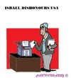 Cartoon: Israel and USA (small) by cartoonharry tagged israel,usa,safety,plans,shredder