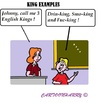 Cartoon: King Examples (small) by cartoonharry tagged school,teacher,kid,kings,greatbritain