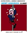 Cartoon: Newt Gingrich (small) by cartoonharry tagged gingrich,usa,climbing,cartoon,cartoonist,cartoonharry,dutch,toonpool