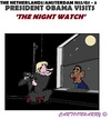 Cartoon: Obama to Rijksmuseum (small) by cartoonharry tagged holland,amsterdam,rijksmuseum,nightwatch,obama,nss,g7