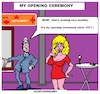 Cartoon: Opening Ceremony (small) by cartoonharry tagged cartoonharry