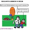 Cartoon: Opgepakte Held (small) by cartoonharry tagged politie,ballonvaarder,wind,parkeren