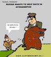 Cartoon: Russia Helps NATO (small) by cartoonharry tagged nato,bear,russia,afghanistan,cartoonharry