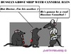 Cartoon: Russian Rats (small) by cartoonharry tagged ghostship,russia,russians,cannibal,rats