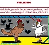 Cartoon: Sehr Beliebt (small) by cartoonharry tagged fleisch,huehner,beliebt