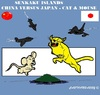 Cartoon: Senkaku Islands (small) by cartoonharry tagged senkaku,islands,cat,mouse,jets,fighters,china,japan,cartoon,cartoonist,cartoonharry,dutch,toonpool