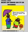 Cartoon: Sesame Street In Nigeria (small) by cartoonharry tagged sesame,street,bert,ernie,nigeria,warm,braun,cartoon,artist,art,arts,drawing,cartoonist,cartoonharry,dutch