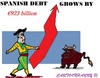 Cartoon: Spanish Debt (small) by cartoonharry tagged spain,debt,madrid,toreador,bull,record,cartoons,cartoonists,cartoonharry,dutch,toonpool