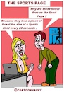 Cartoon: The Sports Page (small) by cartoonharry tagged cartoonharry,sports