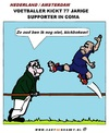 Cartoon: Voetballer of ........ (small) by cartoonharry tagged kickbokser,voetballer,coma,cartoon,cartoonist,cartoonharry,nederland,toonpool