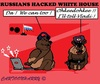 Cartoon: White House Hack (small) by cartoonharry tagged usa,russia,whitehouse,hackers,fsb