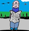 Cartoon: Zeitung (small) by cartoonharry tagged zeitung,expression