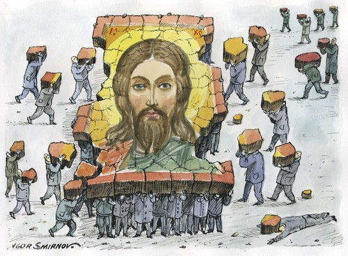 Cartoon: Jesus (medium) by igor smirnov tagged jesus