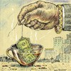 Cartoon: Hot Cup (small) by igor smirnov tagged banks,money