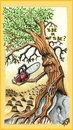 Cartoon: TO BE OR NOT TO BE (small) by joschoo tagged enviroment,deforestation,nature,death,life,being,pollution,rain,forest