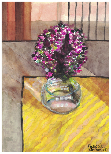 Cartoon: Bouquet of flowers (medium) by Pascal Kirchmair tagged blumenstrauß,vase,aquarell,gouache,fleurs,flowers,watercolour,pascal,kirchmair,illustration,picture,painting,dipinto,pintura,peinture,cuadro,quadro,blumenstrauß,vase,aquarell,gouache,fleurs,flowers,watercolour,pascal,kirchmair,illustration,picture,painting,dipinto,pintura,peinture,cuadro,quadro