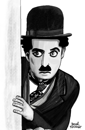 Cartoon: Charlie Chaplin II (medium) by Pascal Kirchmair tagged cartoon,karikatur,caricature,tramp,the,drawing,dessin,zeichnung,charlot,portrait,chaplin,charlie,charlie,chaplin,portrait,charlot,zeichnung,dessin,drawing,the,tramp,caricature,karikatur,cartoon