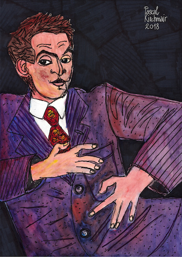 Cartoon: Egon Schiele (medium) by Pascal Kirchmair tagged egon,schiele,vienna,vienne,viena,wien,tulln,illustration,drawing,zeichnung,pascal,kirchmair,cartoon,caricature,karikatur,ilustracion,dibujo,desenho,ink,disegno,ilustracao,illustrazione,illustratie,dessin,de,presse,du,jour,art,of,the,day,tekening,teckning,cartum,vineta,comica,vignetta,caricatura,portrait,retrato,ritratto,portret,genius,genie,mastermind,wiz,whizz,whiz,genio,austria,expressionism,expressionismus,kunst,jugendstil,wiener,moderne,österreich,autriche,maler,künstler,artist,egon,schiele,vienna,vienne,viena,wien,tulln,illustration,drawing,zeichnung,pascal,kirchmair,cartoon,caricature,karikatur,ilustracion,dibujo,desenho,ink,disegno,ilustracao,illustrazione,illustratie,dessin,de,presse,du,jour,art,of,the,day,tekening,teckning,cartum,vineta,comica,vignetta,caricatura,portrait,retrato,ritratto,portret,genius,genie,mastermind,wiz,whizz,whiz,genio,austria,expressionism,expressionismus,kunst,jugendstil,wiener,moderne,österreich,autriche,maler,künstler,artist
