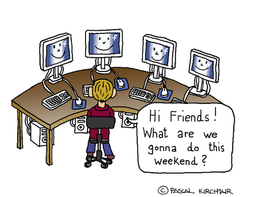 Cartoon: Facebook Friends (medium) by Pascal Kirchmair tagged computer,internet,facebook,friends,cartoon,caricature,karikatur,dessin,humour,humor