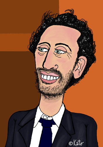 Cartoon: Gad Elmaleh (medium) by Pascal Kirchmair tagged gad,cartoon,elmaleh,dessin,vignetta,karikatur,caricature,canada,france,portrait,komiker,comique,french
