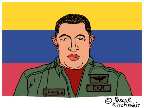 Cartoon: Hugo Chavez (medium) by Pascal Kirchmair tagged hugo,chavez,caricature,cartoon,karikatur,vignetta,vineta,comica,dibujo,desenho,illustration,venezuela,drawing,zeichnung,dessin,disegno,presidente,präsident,president,alo,hugo,chavez,caricature,cartoon,karikatur,vignetta,vineta,comica,dibujo,desenho,illustration,venezuela,drawing,zeichnung,dessin,disegno,presidente,präsident,president,alo