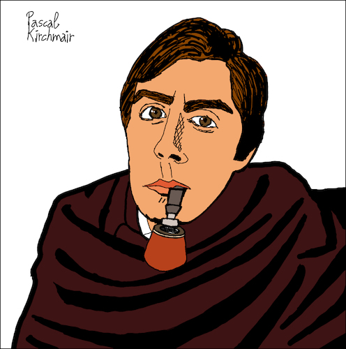 Cartoon: Javier II (medium) by Pascal Kirchmair tagged juan,de,la,rosa,javier,delarosa,portrait,retrato,ritratto,drawing,dibujo,desenho,disegno,illustration,ilustracion,ilustracao,illustrazione,illustratie,zeichnung,dessin,du,jour,art,of,the,day,tekening,teckning,cartum,cartoon,vineta,comica,vignetta,caricature,caricatura,karikatur,pascal,kirchmair,instagram,sobre,las,lineas,juan,de,la,rosa,javier,delarosa,portrait,retrato,ritratto,drawing,dibujo,desenho,disegno,illustration,ilustracion,ilustracao,illustrazione,illustratie,zeichnung,dessin,du,jour,art,of,the,day,tekening,teckning,cartum,cartoon,vineta,comica,vignetta,caricature,caricatura,karikatur,pascal,kirchmair,instagram,sobre,las,lineas