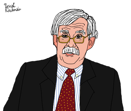 Cartoon: John Bolton (medium) by Pascal Kirchmair tagged john,bolton,usa,cartoon,caricature,karikatur,ilustracion,illustration,pascal,kirchmair,dibujo,desenho,drawing,zeichnung,disegno,ilustracao,illustrazione,illustratie,dessin,de,presse,du,jour,art,of,the,day,tekening,teckning,cartum,vineta,comica,vignetta,caricatura,humor,humour,political,portrait,retrato,ritratto,portret,porträt,john,bolton,usa,cartoon,caricature,karikatur,ilustracion,illustration,pascal,kirchmair,dibujo,desenho,drawing,zeichnung,disegno,ilustracao,illustrazione,illustratie,dessin,de,presse,du,jour,art,of,the,day,tekening,teckning,cartum,vineta,comica,vignetta,caricatura,humor,humour,political,portrait,retrato,ritratto,portret,porträt