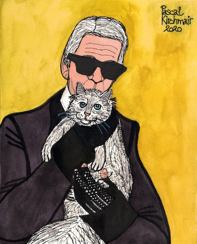 Cartoon: Karl Lagerfeld and Choupette (medium) by Pascal Kirchmair tagged monster,monsterchoupette,choupette,coco,chanel,fashion,mode,label,moda,vogue,cats,katzen,gatos,gatti,chats,humour,umorismo,humorous,spirito,humor,karl,lagerfeld,illustration,drawing,zeichnung,pascal,kirchmair,political,cartoon,caricature,karikatur,ilustracion,dibujo,desenho,ink,disegno,ilustracao,illustrazione,illustratie,dessin,de,presse,tekening,teckning,cartum,vineta,comica,vignetta,caricatura,monster,monsterchoupette,choupette,coco,chanel,fashion,mode,label,moda,vogue,cats,katzen,gatos,gatti,chats,humour,umorismo,humorous,spirito,humor,karl,lagerfeld,illustration,drawing,zeichnung,pascal,kirchmair,political,cartoon,caricature,karikatur,ilustracion,dibujo,desenho,ink,disegno,ilustracao,illustrazione,illustratie,dessin,de,presse,tekening,teckning,cartum,vineta,comica,vignetta,caricatura
