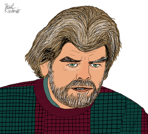 Cartoon: Reinhold Messner (medium) by Pascal Kirchmair tagged reinhold,messner,mountain,museum,nanga,parbat,mount,everest,rupal,face,wand,bergsteiger,mountaineer,explorer,mmm,porträt,dibuix,illustration,drawing,zeichnung,pascal,kirchmair,cartoon,caricature,karikatur,ilustracion,dibujo,desenho,ink,disegno,ilustracao,illustrazione,illustratie,dessin,de,presse,du,jour,art,of,the,day,tekening,teckning,cartum,vineta,comica,vignetta,caricatura,portrait,retrato,ritratto,portret,k2,annapurna,lhotse,broad,peak,brixen,bozen,bressanone,südtirol,south,tyrol,tirol,oxygen,reinhold,messner,mountain,museum,nanga,parbat,mount,everest,rupal,face,wand,bergsteiger,mountaineer,explorer,mmm,porträt,dibuix,illustration,drawing,zeichnung,pascal,kirchmair,cartoon,caricature,karikatur,ilustracion,dibujo,desenho,ink,disegno,ilustracao,illustrazione,illustratie,dessin,de,presse,du,jour,art,of,the,day,tekening,teckning,cartum,vineta,comica,vignetta,caricatura,portrait,retrato,ritratto,portret,k2,annapurna,lhotse,broad,peak,brixen,bozen,bressanone,südtirol,south,tyrol,tirol,oxygen