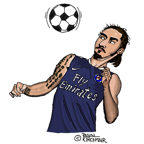 Cartoon: Zlatan Ibrahimovic (medium) by Pascal Kirchmair tagged zlatan,ibrahimovic,ibra,caricature,karikatur,vignetta,dessin,humour,zlatan,ibrahimovic,ibra,caricature,karikatur,vignetta,dessin,humour