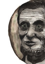 Cartoon: Abraham Lincoln (small) by Pascal Kirchmair tagged abe,usa,vereinigte,staaten,präsident,president,abraham,lincoln,sklaverei,abschaffung,abolition,abolitionism