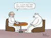 Cartoon: Bipolare Störung (small) by Pascal Kirchmair tagged polar,ice,bear,ours,polaire,blanc,oso,blanco,orso,polare,bianco,urso,branco,eisbär,polarbär,bipolar,disorder,störung,psychiater,psychiatrist,psychiatre,gag,humour,umorismo,umore,spirito,humor,lustig,cartoon,caricature,karikatur,pascal,kirchmair,no,deal,illustration,drawing,zeichnung,political,politische,ilustracion,dibujo,desenho,ink,disegno,ilustracao,illustrazione,illustratie,dessin,de,presse,du,jour,art,of,the,day,tekening,teckning,cartum,vineta,comica,vignetta,caricatura,esprit,witz