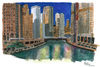 Cartoon: Chikago (small) by Pascal Kirchmair tagged wasserspiegelungen,barack,obama,reelection,hometown,ois,chikago,riverside,river,from,michigan,lake,michigansee,skyscrapers,wolkenkratzer,skyline