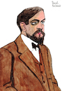 Cartoon: Claude Debussy (small) by Pascal Kirchmair tagged claude debussy portrait retrato ritratto drawing dibujo desenho disegno cartoon caricature karikatur pascal kirchmair dessin composer france komponist paris zeichnung tekening cartum portret teckning ritning impressionismus impressionism in music impressionist romantik moderne