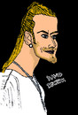 Cartoon: David Beckham (small) by Pascal Kirchmair tagged fifa,100,david,beckham,manu,manchester,real,madrid,brooklyn,la,galaxy,seven,sieben,england,captain,kapitän,fußball,football,soccer,foot,spice,spicy,boy,girls,posh,victoria