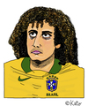 Cartoon: David Luiz (small) by Pascal Kirchmair tagged zeichnung,david,luiz,karikatur,caricature,cartoon,vignetta,portrait,fußball,brasilien,sao,paulo,dessin