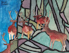 Cartoon: Deer in the mountains (small) by Pascal Kirchmair tagged hirsche rotwild cervo cervi ciervos cervos ciervo cerf cerfs deer mountain mountains gebirge berge gemälde painting peinture pittura pintura dipinto alpine alpen dibuix illustration drawing zeichnung pascal kirchmair ilustracion dibujo desenho disegno ilustracao illustrazione illustratie dessin du jour art of the day tekening teckning watercolor watercolour aquarell aquarelle acquerello acquarella acuarela aguarela aquarela alps alpes alpi