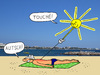 Cartoon: Der Sonnenstich (small) by Pascal Kirchmair tagged calenture,sunstroke,insolation,sonnenstich,coup,de,soleil,bambou,cartoon,dessin,humoristique,humor,humour