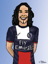 Cartoon: Edinson Cavani (small) by Pascal Kirchmair tagged stürmer,weltklasse,edinson,cavani,uruguay,cartoon,caricature,karikatur,fußball,football,foot,el,matador,spitze