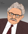 Cartoon: Elias Canetti (small) by Pascal Kirchmair tagged elias canetti cartoon caricature karikatur ilustracion illustration pascal kirchmair dibujo desenho drawing zeichnung disegno ilustracao illustrazione illustratie dessin de presse du jour art of the day tekening teckning cartum vineta comica vignetta caricatura humor humour political portrait retrato ritratto portret masse und macht crowds and power schriftsteller author literatur nobelpreis prix premio nobel prize in literature letteratura litterature literatura autor autore auteur