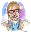 Cartoon: Elton John (small) by Pascal Kirchmair tagged elton,john,cartoon,caricature,karikatur,portrait,zeichnung,dessin,dibujo,desenho,disegno,illustration,sänger,singer,chanteur,pop,music,musik,sacrifice,candle,in,the,wind,do,not,go,breaking,my,heart,rock,blues,boogie,komponist,pianist,composer,diana,lady,d