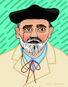 Cartoon: Emile Zola (small) by Pascal Kirchmair tagged emile,zola,illustration,drawing,zeichnung,pascal,kirchmair,cartoon,caricature,karikatur,ilustracion,dibujo,desenho,ink,disegno,ilustracao,illustrazione,illustratie,dessin,de,presse,du,jour,art,of,the,day,tekening,teckning,cartum,vineta,comica,vignetta,caricatura,portrait,retrato,ritratto,portret,kunst,writer,author,autor,autore,auteur,schriftsteller,literature,literatur,litterature,accuse,alfred,dreyfus,paris,france,frankreich,french,novelist,playwright,journalist,francais