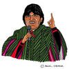 Cartoon: Evo Morales (small) by Pascal Kirchmair tagged evo,morales,präsident,president,bolivia,bolivien,cartoon,caricature,karikatur,dessin,humoristique,humor